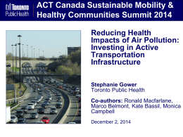 6A - Stephanie Gower - ACT Conference Path to Healthier Air FINAL