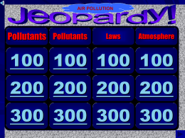 Air Pollution APES Jeopardy Game