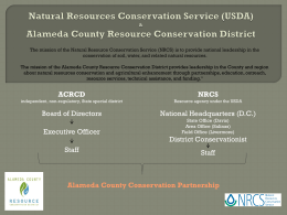 Farm Bill Programs - Alameda County Resource Conservation District