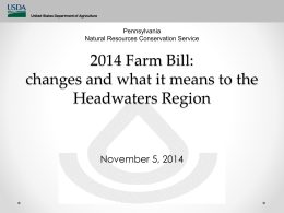 2015 Council/Farm Bill Presentation