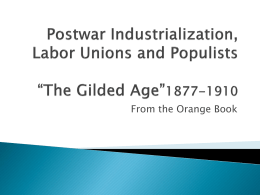 Postwar Industrialization, Agriculture, and Urban Growth