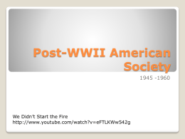 Post-WWII American Society