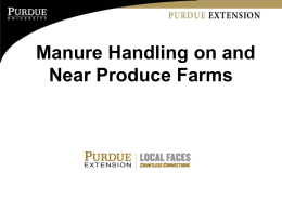 Manure Handling on and Near Produce Farms