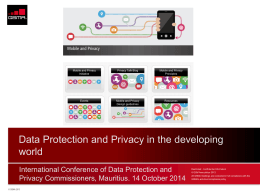 International Conference Of Data Protection and Privacy