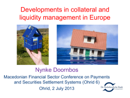 Developments in collateral and liquidity management in Europe