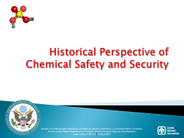 Historical Perspective of Chemical Safety and Security - CSP