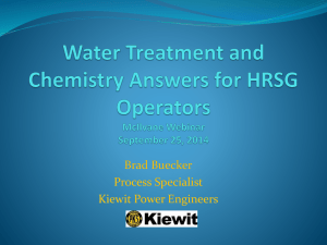 Water Treatment and Chemistry Answers for HRSG Operators by