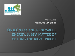 Carbon Tax and Renewable Energy