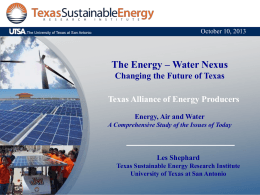 Water - Texas Alliance