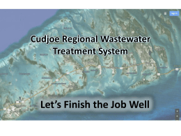 Cudjoe Regional Wastewater Treatment System