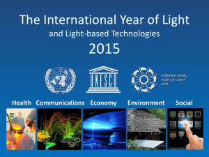 Short presentation - International Year of Light