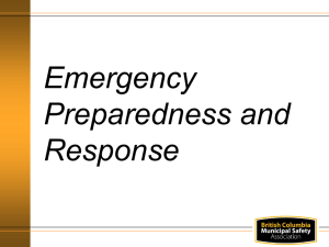 Emergency Preparedness and Response PowerPoint
