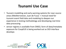User scenario – Tsunami detection – Best