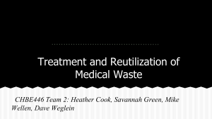 Treatment and Reutilization of Medical Waste