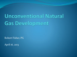 Unconventional Natural Gas Development
