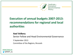 Execution of annual budgets 2007-2013