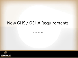 GHS Customer info presentation