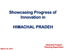 State Innovation Council (SInC) Himachal Pradesh