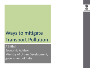 Ways to Mitigate Transport Pollution - A.S. Bahl