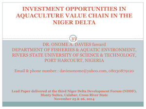 Investment Opportunities in Aquaculture Value Chain