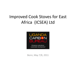 Improved Cook Stoves for East