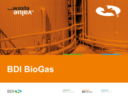 Why BDI BioGas?