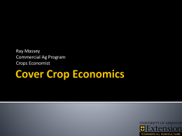 Cover Crop Economics - University of Missouri Extension