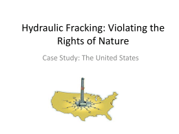 Fracking US – Tribunal Case PPT
