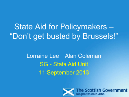 Is State Aid present? - The Scottish Government