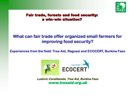 What can fair trade offer organized small farmers for