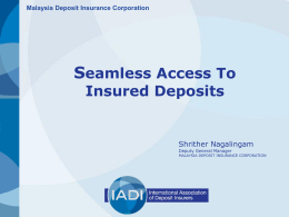 Seamless Access To Insured Deposits