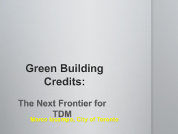 1. Marco Iacampo - Green Building Credits- City of