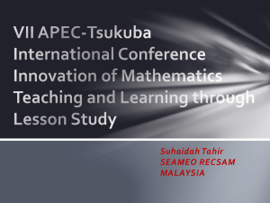 Innovation of Mathematics Teaching and Learning through Lesson