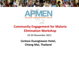 6 Community engagement for malaria elimination