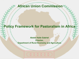 Policy Framework for Pastoralism in Africa Abebe