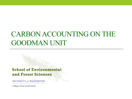 Carbon Accounting on the Goodman Unit
