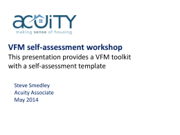 A VFM toolkit and self-assessment template