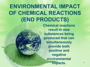 ENVIRONMENTAL IMPACT OF CHEMICAL REACTIONS (END