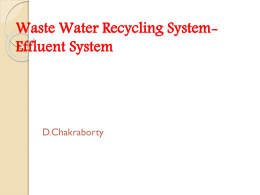 Waste Water Recycling System-Effluent System