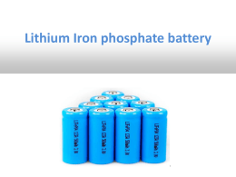 Lithium Iron phosphate battery presentation ver
