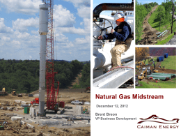 Midstream Development in the Marcellus