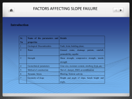 Causes of slope failure