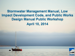 City of Tacoma Stormwater Management Manual Updates Workshop