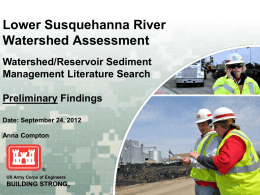 Watershed/Reservoir Sediment Management Literature Search
