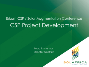 CSP Project Development