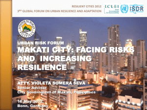on facing risks and increasing resilience