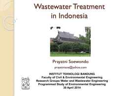Water and Wastewater Treatment in Indonesia