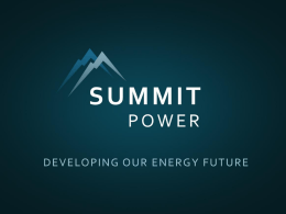 Summit Power- Sasha Mackler - United States Energy Association