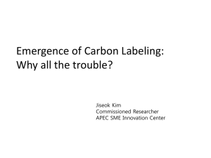 Background on the emergence of carbon labeling