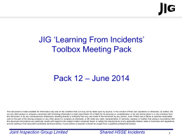 JIG LFI Toolbox Pack 12 - Joint Inspection Group